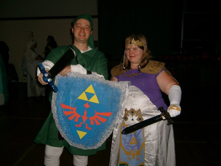 Someday I want a really fancy Zelda costume. I rigged this up myself..it's decent.
