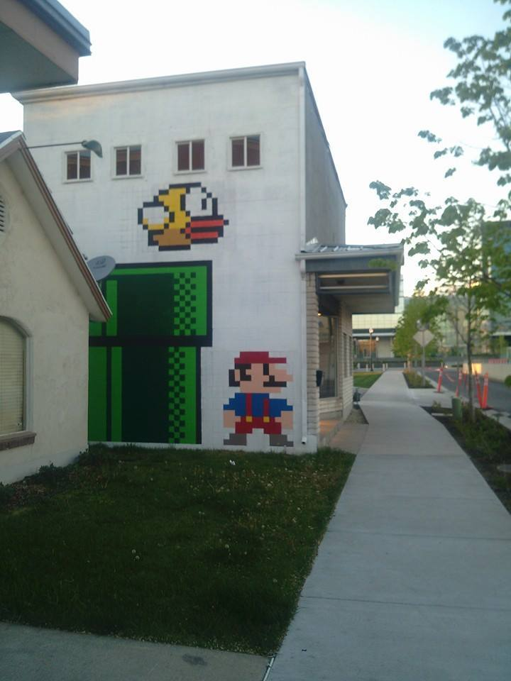 Super Mario Bros. Street Art in Utah