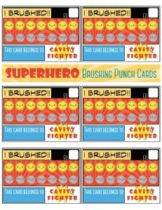 Inspire Your Kids to Brush With These Printable Superhero Cards