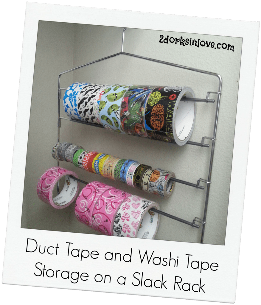 Duct Tape Storage With a Slack Rack (Washi Tape and Ribbon Too!)
