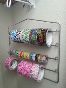 Duct Tape storage idea - slack rack