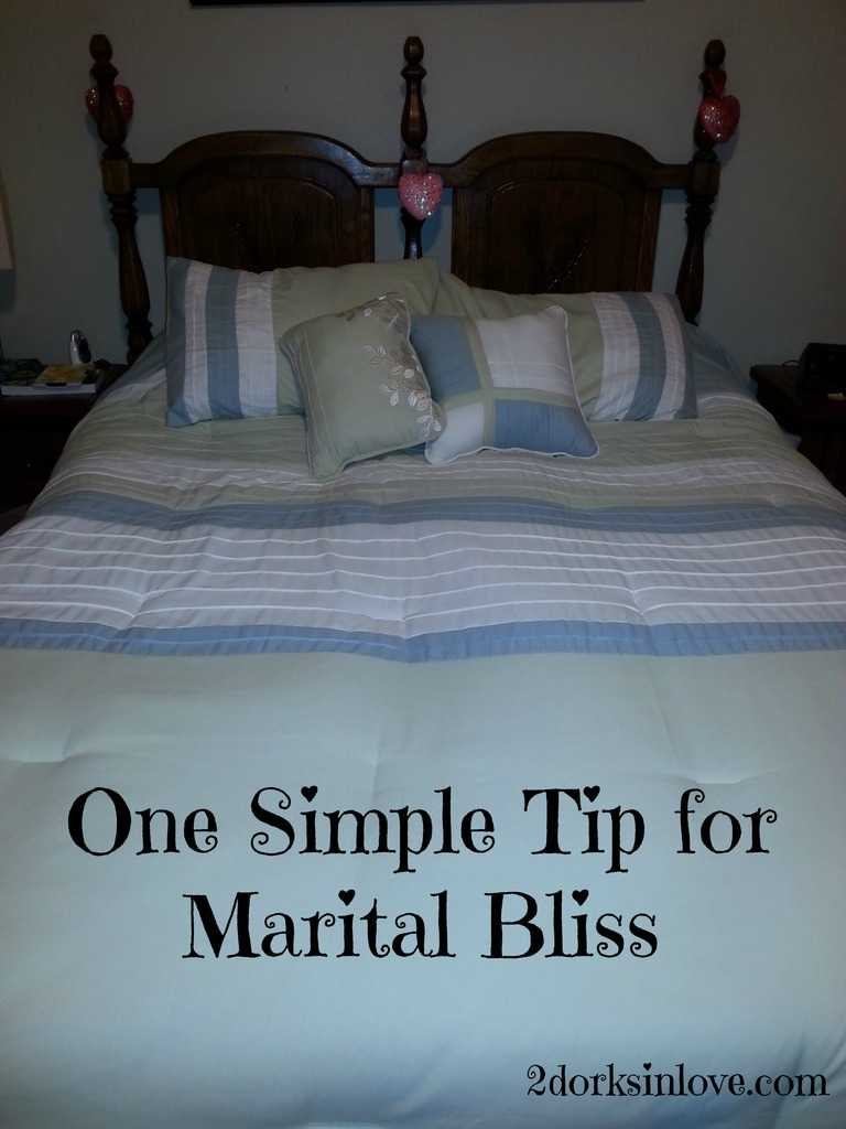 A Silly Little Tip for Marital Bliss