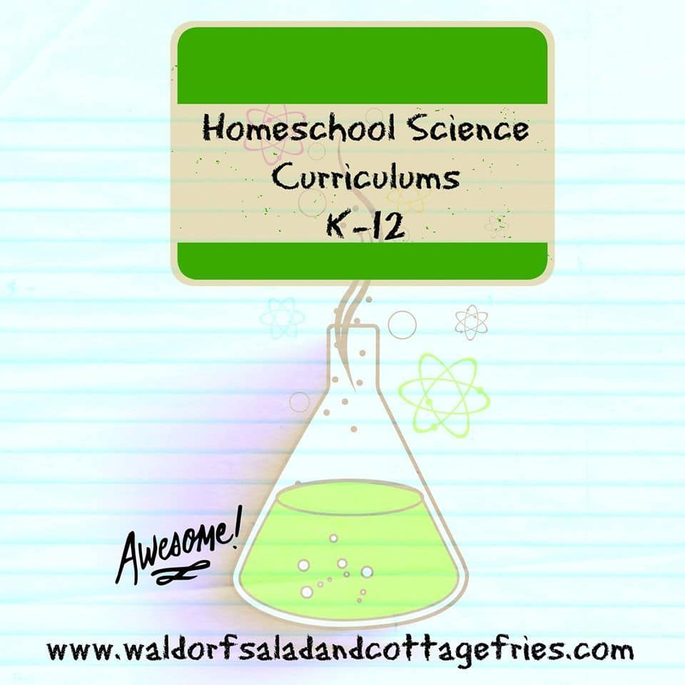 Homeschool science curriculums K-12