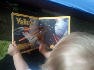 The Colors Star Wars board book is helpful for learning