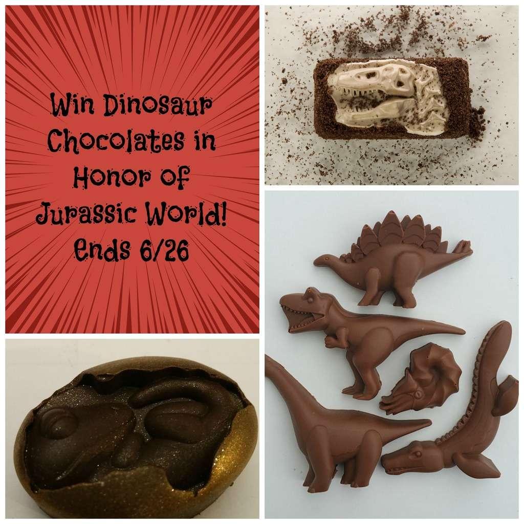 Jurassic World Giveaway of Dinosaur Chocolates!