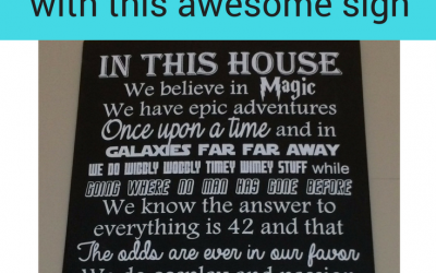 Show Your Geek Pride with the In This House We Do Geek Sign
