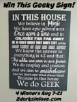 (Ended) Show Your Geek Pride with the In This House We Do Geek Sign – Giveaway!