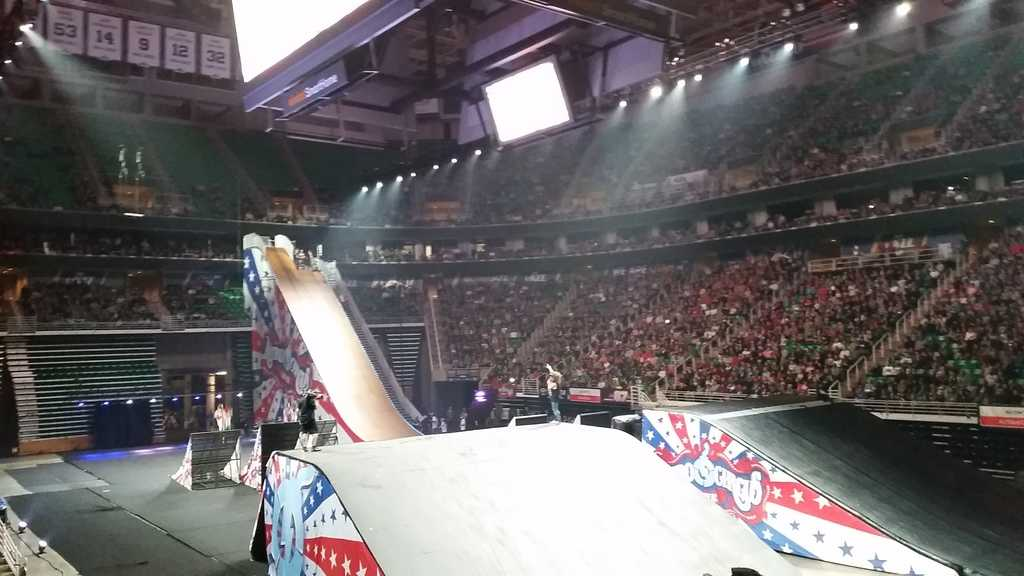 Showing off the ramps at Nitro Circus