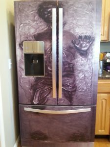 Star Wars Kitchen Ideas - Han Solo in Carbonite Fridge Wrap