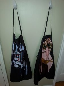 Star Wars Kitchen Ideas - Darth Vader and Slave Leia Aprons