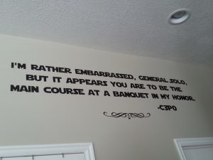 Star Wars Kitchen Ideas - C3PO Vinyl Quote