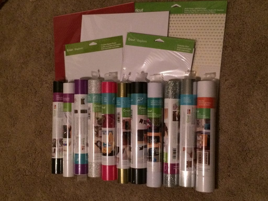 Just some of the different materials you can craft using the Cricut Explore Air 2