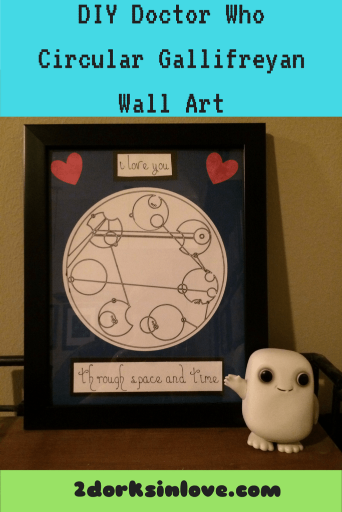 You can create your own Circular Gallifreyan wall art with a Cricut!