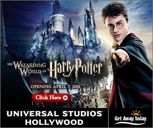 Book with Get Away Today when you visit the Wizarding World of Harry Potter
