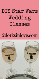 DIY Star Wars wedding glasses are easy and fun to make
