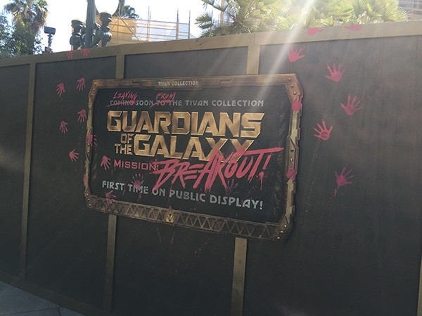 Guardians of the Galaxy Mission: BREAKOUT! is replacing the Tower of Terror at Disneyland