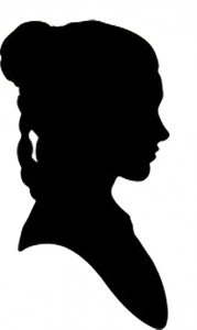 Silhouette of Leia from Star Wars