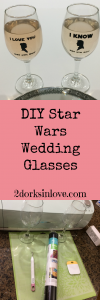 Star Wars wedding glasses are a perfect geeky touch for your nerdy nuptials.