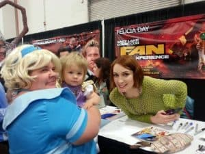 Here I am as Clara from The Guild, meeting Felicia Day