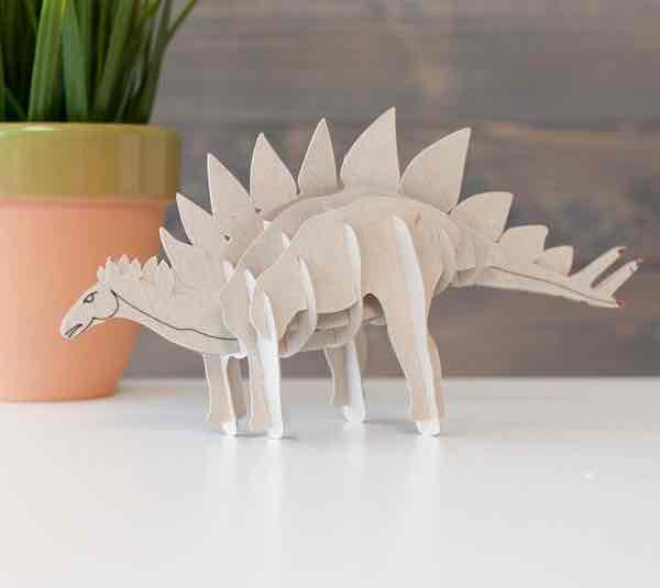 This 3D Stegosaurus is fun to add to your workspace