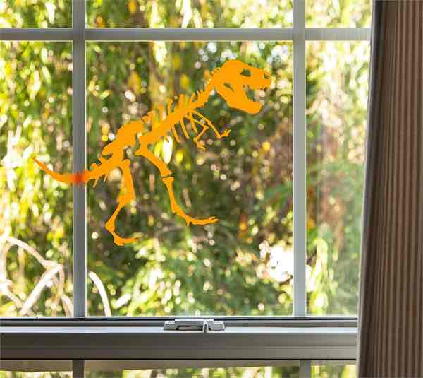 Dress up your windows with these dinosaur window clings