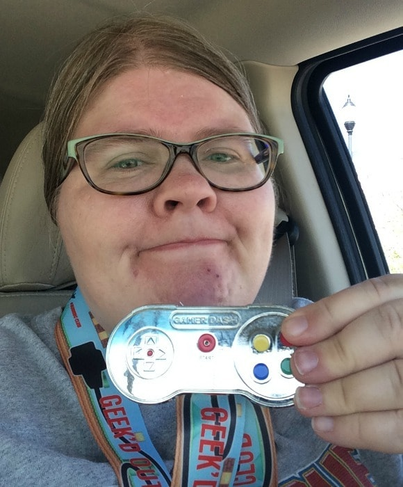 My medal from the Gamer Dash 5K