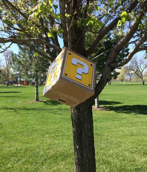 Question boxes full of coins were at the Gamer Dash 5K