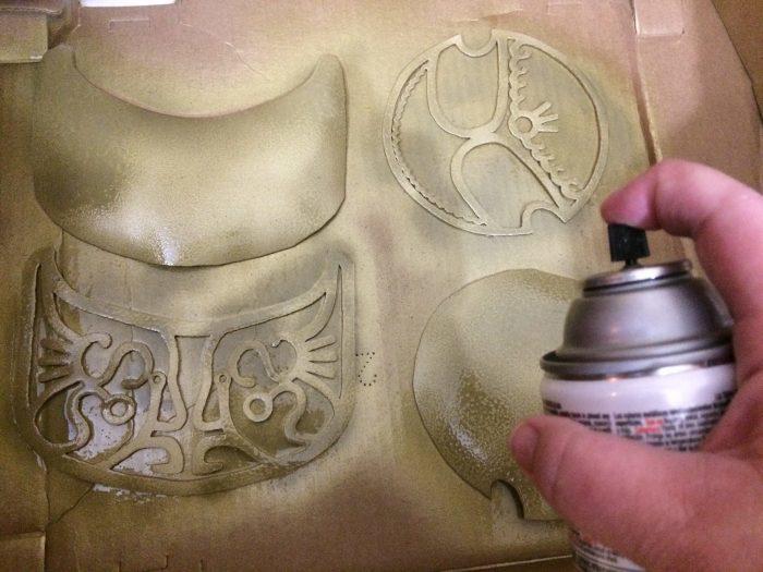 Spray painting my craft foam armor