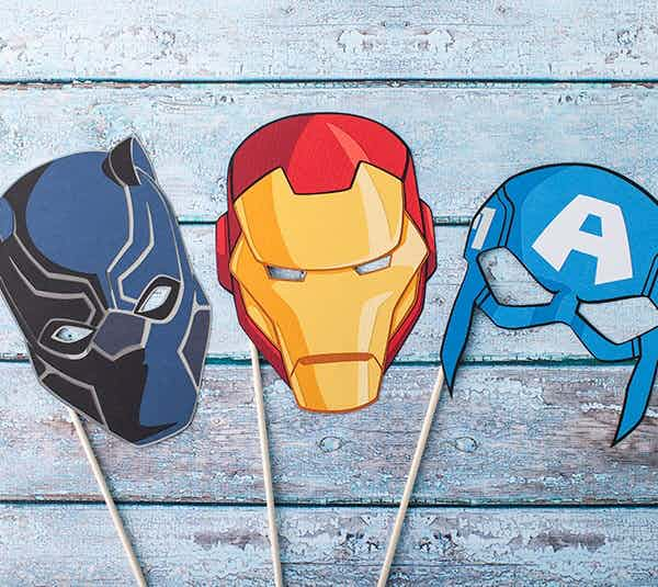Have fun with your own Marvel masks