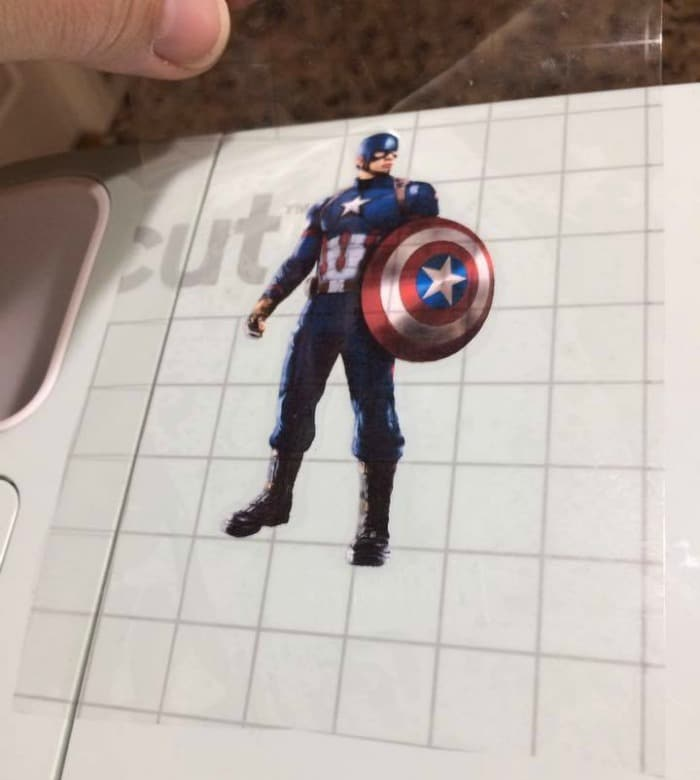 Place your Team Cap decals on your machine