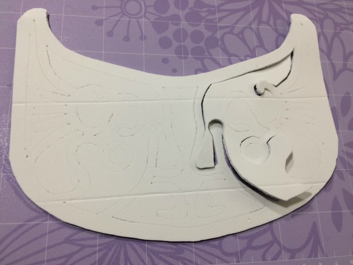 You may have to punch out the foam depending on your specific sheet's thickness