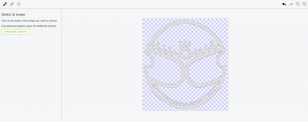 Erase the negative spaces in the design