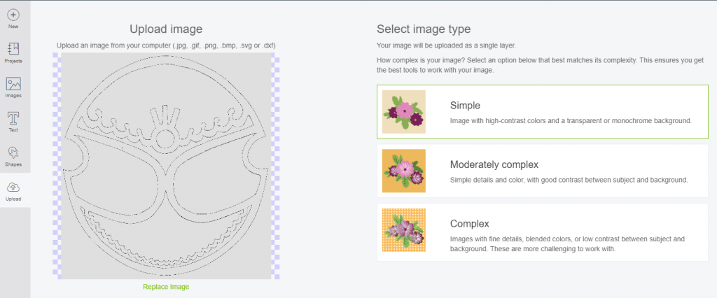 You can upload the Zelda armor patterns to Cricut design space