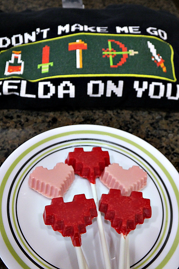 Fun 8-bit lollipops for a video game lover