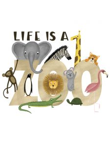 Life is a Zoo Cricut Iron-on Design