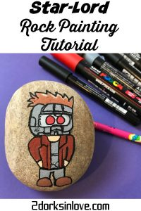 Learn how to paint rocks with a Star-Lord design