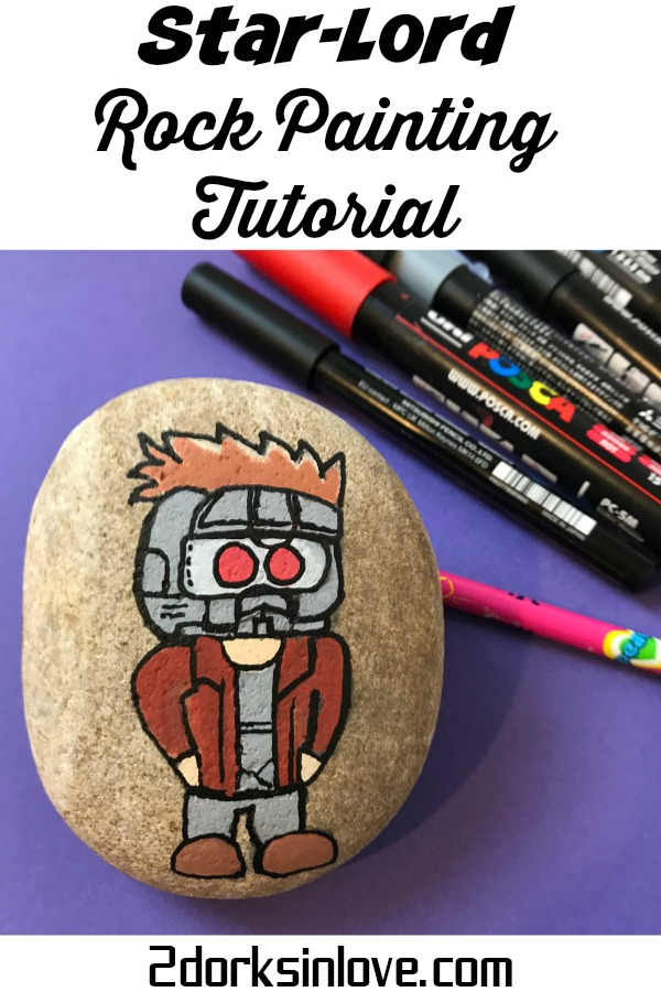 Learn how to paint rocks with a Star-Lord design on them. Guardians of the Galaxy