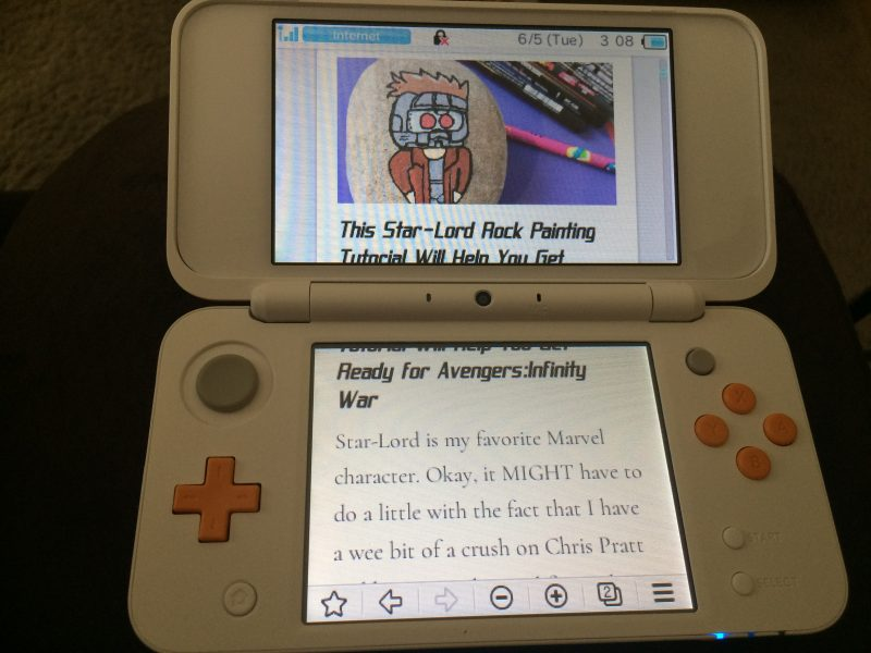 Checking the Internet on the Nintendo 2DS XL